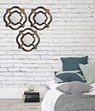 Art Street -Set of 3 Beautiful Large Mirror for Bathroom,Livingroom Wall Mirror,Decorative in Round Shape (11 x 11 Inchs)
