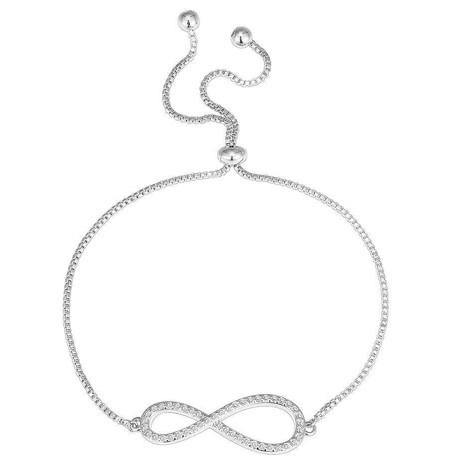 PAVOI 14K Gold Plated Star Celestial Bracelet Infinity Endless Love Symbol Charm Adjustable Bracelet Gift for Women Girls