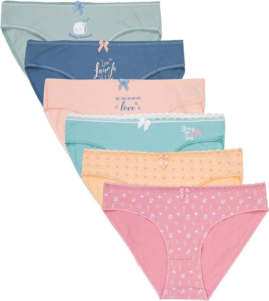 Channo, 6 paia di mutande, slip per donna, 95% cotone, 5% elastan , rgv