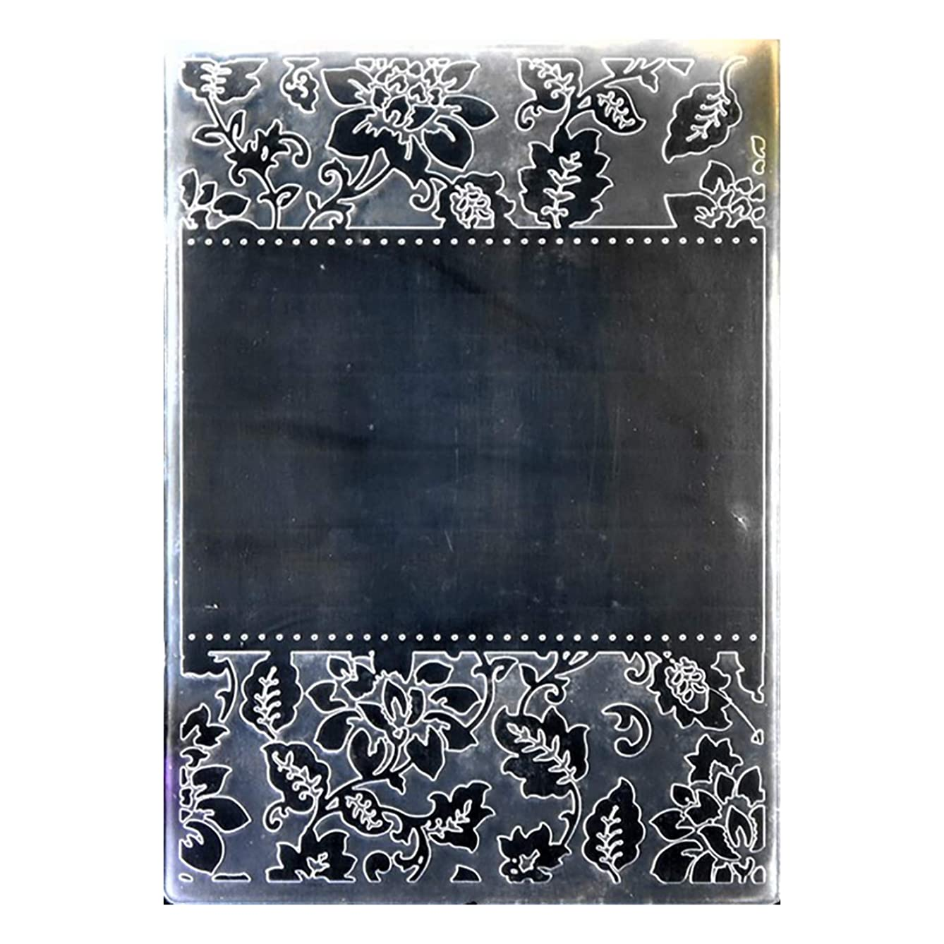 Kwan Crafts Flowers Frame Plastic Embossing Folders for Card Making Scrapbooking and Other Paper Crafts, 12.5x17.7cm