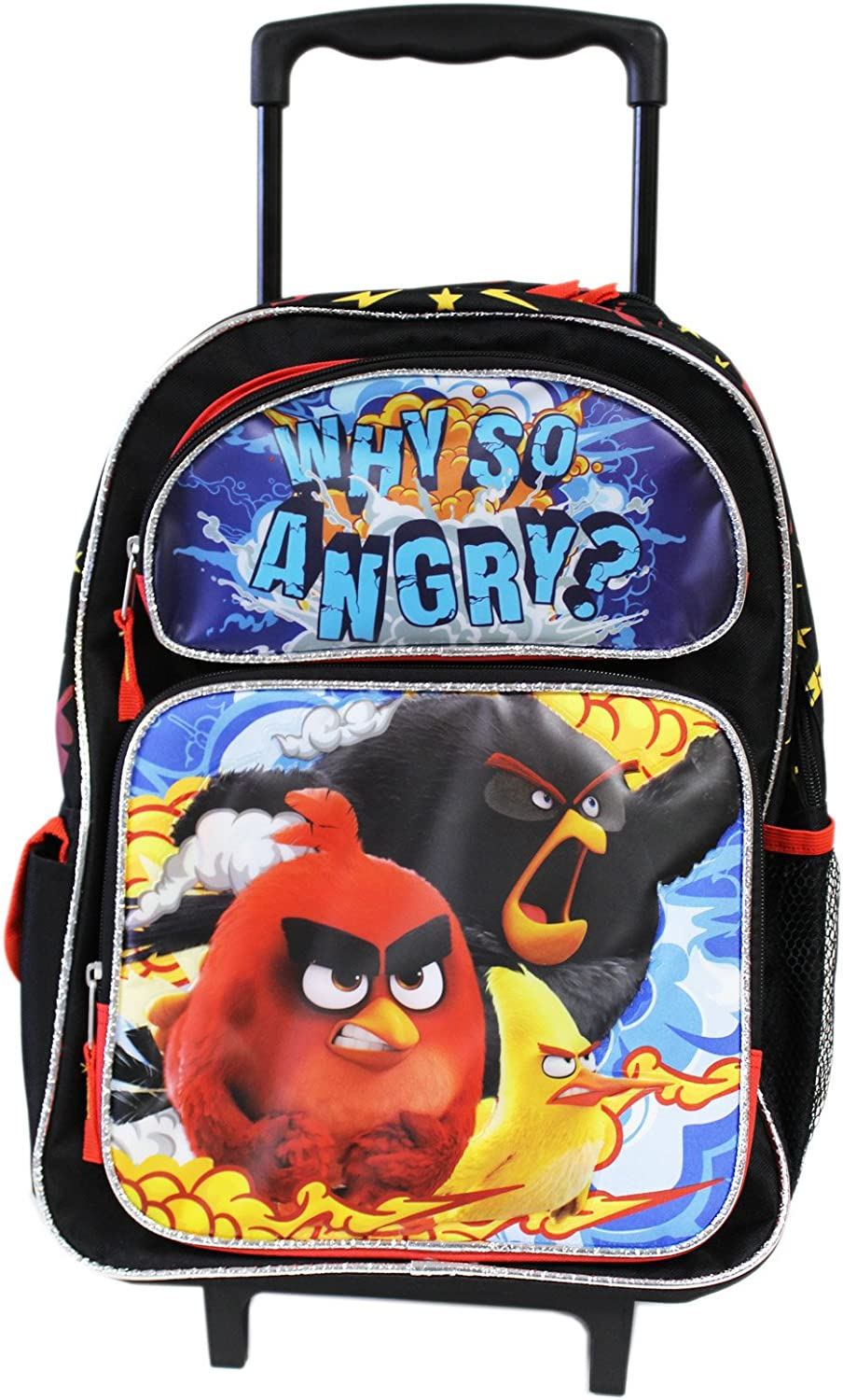 Large Rolling Backpack  Angry Birds  Movie New 137599