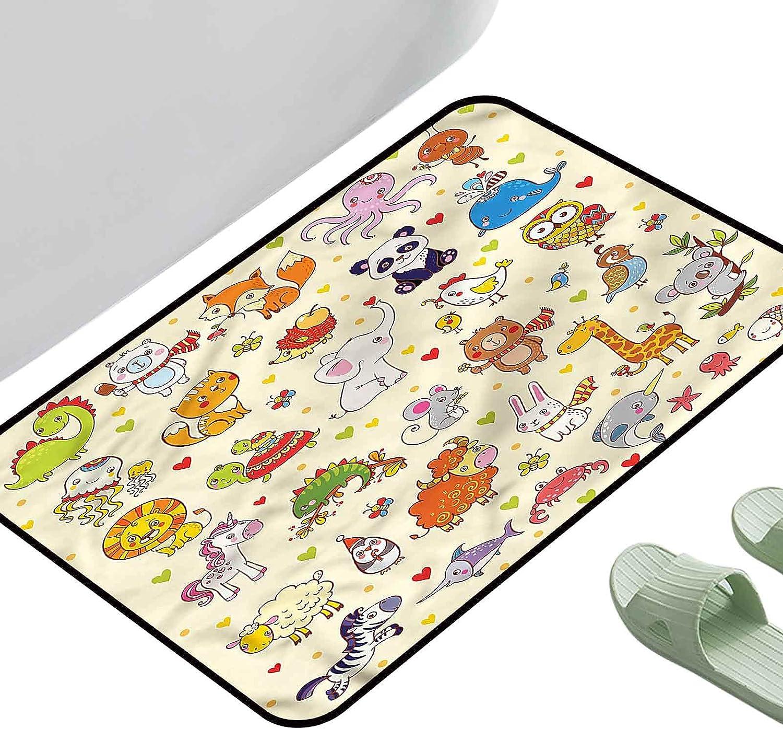 Doormat Popular products Bath Mats Foot Pad Kids Panda 4 mart Cartoon Adorable Animals