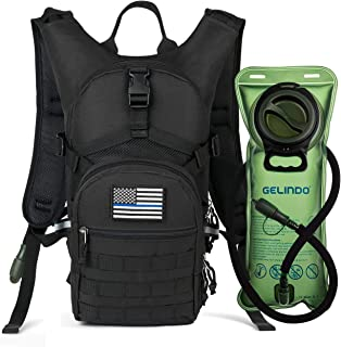 Gelindo Military Tactical Hydration Backpack with 2L Water Bladder Light Weight, MOLLE Tactical Assault Pack for Hiking Biking Running Walking Climbing Outdoor Travel