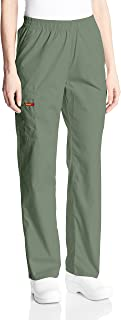 Dickies Womens 86106 Signature Elastic Waist Scrubs Pant Medical Scrubs Pants - Green - Medium