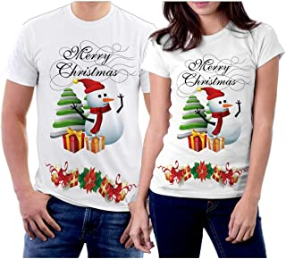 Winter Christmas T-Shirts Collection Style 07 for Couple