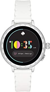 Kate Spade New York Women's 'Scallop 2' Touchscreen Smartwatch Stainless Steel and Silicone Watch, White (KST2011)