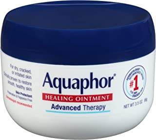 Aquaphor Healing Ointment - Skin Protectant for Dry Cracked Skin - Hands, Heels, Elbows - 3.5 oz Jar