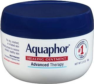 Aquaphor Healing Ointment - Skin Protectant for Dry Cracked Skin - Hands, Heels, Elbows - 3.5 oz Jar