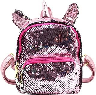 Glitter Mermaid Sequins Backpack Unicorn Travel Daypack Schoolbag Satchel for Girls Kids
