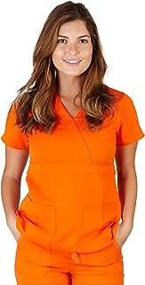 Ultrasoft Premium 3 Pocket Mock Wrap Medical Scrub Top for Women - Junior FIT