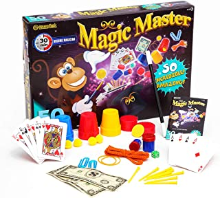 YAO&BEI Deluxe Magic Kit Set with Toy Wand & 50 Magic Tricks for Beginners - Best Age 6 7 8 9 10