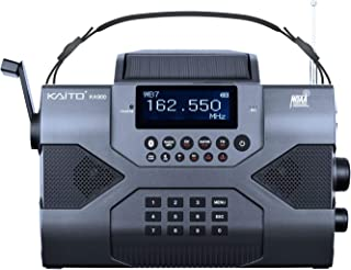 Kaito Emergency Radio Voyager Max KA900 Digital Solar Dynamo Crank Wind Up AM/FM/SW & NOAA Weather Stereo Radio Receiver with Bluetooth, Real-time Alert, MP3 Player, Recorder & Phone Charger, Black