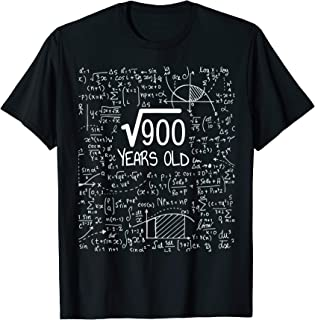 30th Birthday T-Shirt - Square Root of 900: 30 Years Old