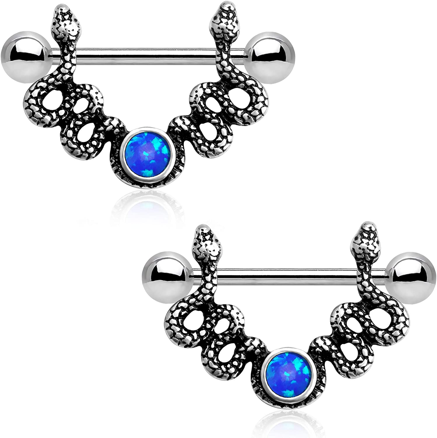 CM Crareesi Mania Burn Silver Snake Surgical Nipple Weekly update Rings S Bombing new work 316L