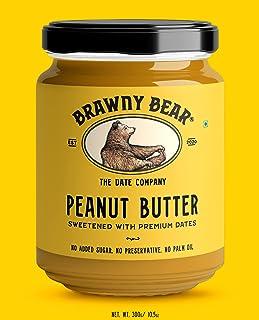 Brawny Bear Peanut Butter Date Sweetened (300g) | No Added Sugar | Vegan
