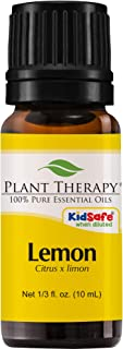 Plant Therapy Lemon Essential Oil | 100% Pure, Undiluted, Natural Aromatherapy, Therapeutic Grade | 10 Milliliter (1/3 Ounce)