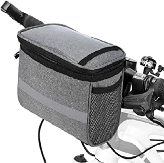 Lixada Bike Frame Bag-Bicycle Handlebar Bag-Bicycle Triangle Bag- Bike Front Tube Bag- Bike Pannier Bag-Bike Baskets Bag with Reflective Stripe (Optional)