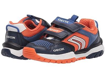 Geox Kids Tuono 1 (Toddler/Little Kid) (Navy/Orange) Boy
