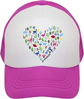 JP DOoDLES Heart Hat Kids Trucker Hat. Baseball Mesh Back Cap fits Baby, Toddler and Youth