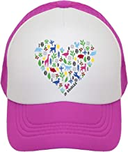 JP DOoDLES Heart on Kids Trucker Hat. Kids Baseball Cap is Available in Baby, Toddler, and Adult Sizes.