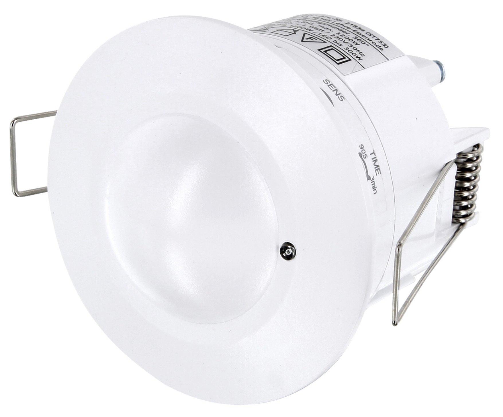 Empotrable HF Detector de movimiento 360 ° con sensor crepuscular ...