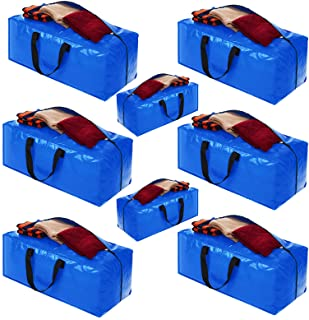 کیف های متحرک ، وسایل ذخیره سازی ، کیسه های ذخیره بزرگ برای اسباب کشی ، ملزومات خوابگاه کالج ، کمد اتاق خواب ، کیف های بسته بندی با زیپ دسته کوله پشتی سازگار با سبد خرید IKEA Frakta (8 بسته