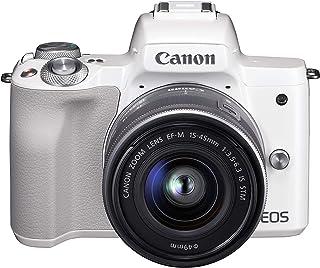 Canon ミラーレス一眼カメラ EOS Kiss M 標準ズームレンズキット ホワイト EOSKISSMWH-1545ISSTMLK-A