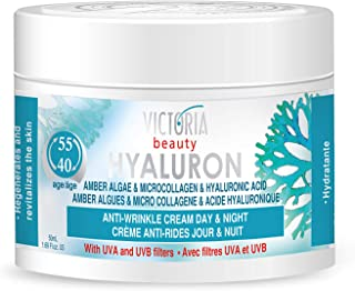 Sponsored Ad - Hyaluron & Amber Algae Anti-Aging Day and Night Cream with Micro-Collagen and Hyaluronic Acid for Age 40 an...