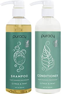 Puracy Shampoo and Conditioner Set, Hair Stays Clean and Silky Longer with LexFeel N5, Natural and Color-Safe, 16 Ounce (2...