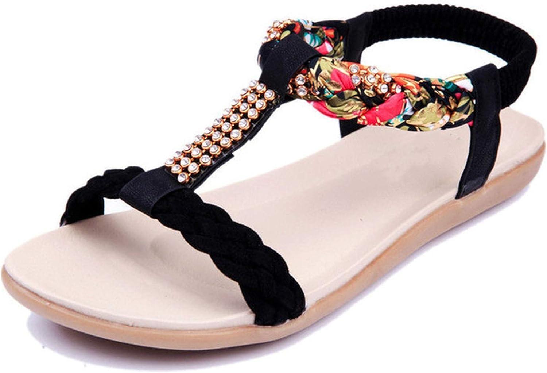 Women Sandals Flats Beach Sandals Open Toes Platform Rhinestone Summer Sandalias women