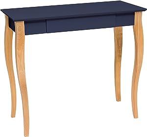 Ragaba LILLO Graphit Schmaler Schreibtisch mit Schublade aus natürliches Holz und MDF, lackierte Tischplatte, 85 x 35 x 74cm - Moderner Schreibtisch für Schlafzimmer und Büro - 12 Farben
