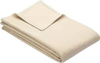 IBENA Cotton Pure King Size Bed Blanket - Ivory
