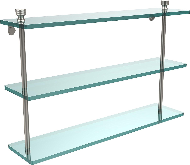 Allied Brass FT-5 22-SN Triple Glass Shelf Satin Nickel