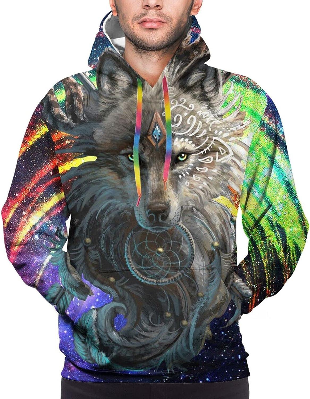 Hoodie For Teens Boys Girls Wolf Warrior Galaxy Pullover Hooded Sports Sweatshirt