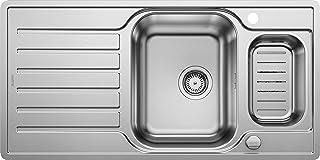 BLANCO LANTOS 6 S-IF Centric - Edelstahlspüle für 60 cm breite Unterschränke für die Küche - Mit IF-Flachrand und Ablauffernbedienung - 521754