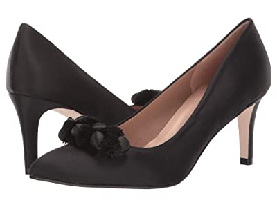 French Sole Erie (Black Satin) High Heels