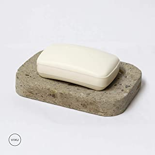 VIXU Jabonera de cantera -Accesorios de baño - Jabonera de piedra - Soap dish - Plato para jabón