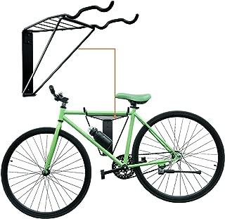 Bike Rack Wall Mount Storage for Garage Space Saving Foldable Helmet Holder Shelf Indoor Hold 2 Bikes