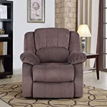HomeTown Rhea Fabric Single Seater Electric Recliner in Brown Color