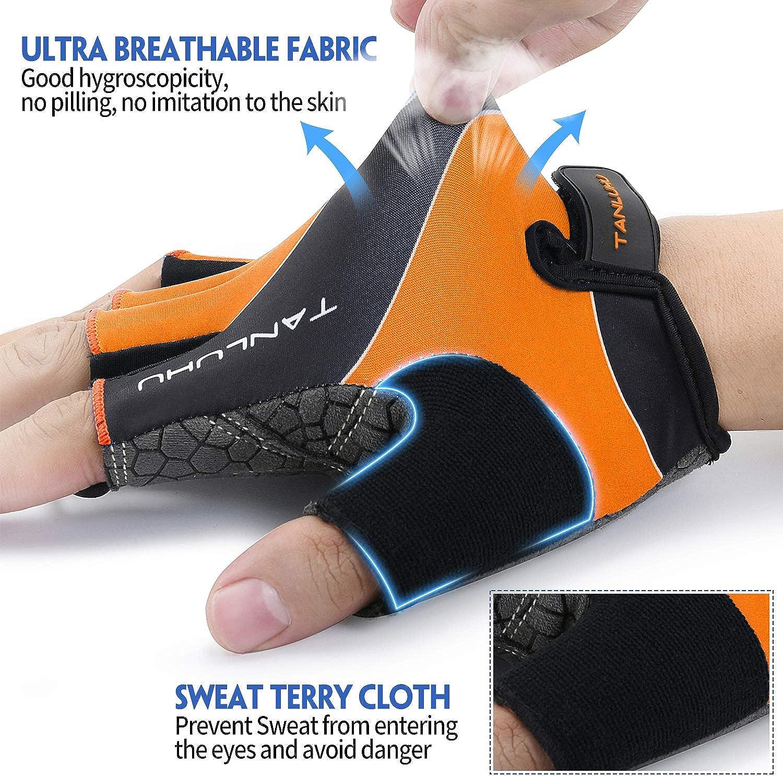 Tanluhu/Cycling/Gloves/Bike/Gloves/Biking Gloves Half/Finger Bicycle/Gloves/-/Anti-Slip/Shock-Absorbing Padded Breathable Road Mountain Bike/Glove/for/Men/Women