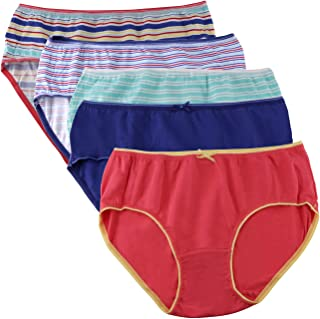 Juliet Cotton Stretch Hipster Panties for Women - Pack of 5