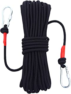 orgphys Climbing Rope 8mm 64FT Safety Rope with Built-in Steel Wire Core for Fire Rescue, Escape, Emergency, Spare Rope