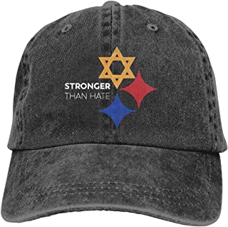 Stronger Than Hate Pittsburgh Denim Hat Outdoor Sports Hat for Men and Women