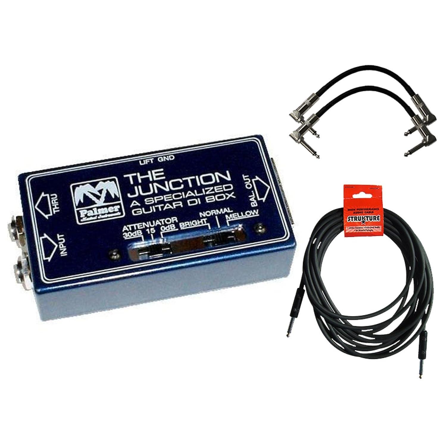 Palmer PDI 09 Passive DI Box for Guitars with 3 Cables