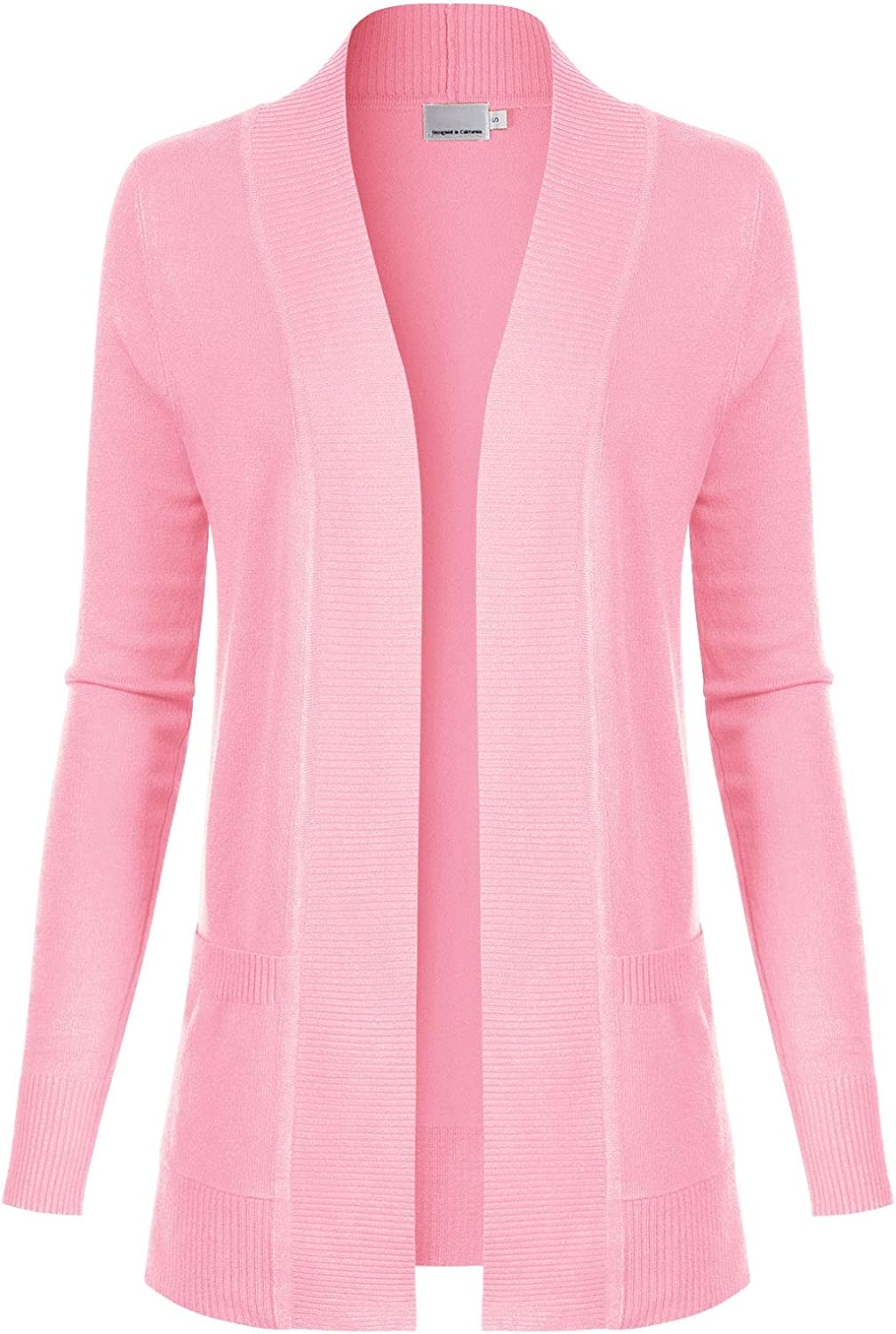 Design by Olivia Women's Open Front Long Sleeve Classic Knit Cardigan