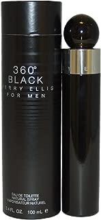 Perry Ellis 360 Black Eau de Toilette Splash For Men, 3.4 Ounce