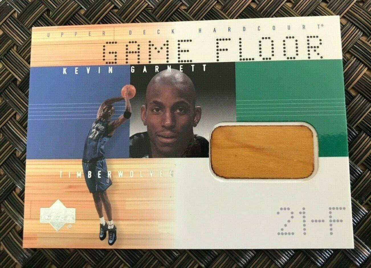 2000 Upper Deck In a popularity Hardcourt Kevin Garnett Floor Court Ca Game Used 70% OFF Outlet