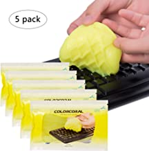 Colorcoral Keyboard Cleaner Universal Cleaning Slime for PC Tablet Laptop Keyboards, Car Vents, Home Appliance, Printers, Calculators from (5 Pack)