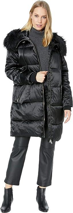 Puffer w/ Faux Fur Hood