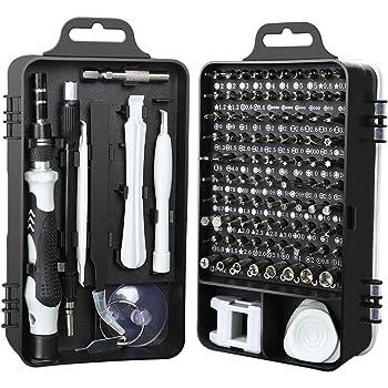 KYG 112 en 1 Destornilladores de Precisión Juego de Destornilladores Profesional con 90 Puntas Magnéticas para Tornillos y 21 Componentes Kit de Herramientas Profesional y Domestico para Reparación: Amazon.es: Bricolaje y herramientas